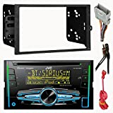 New JVC KW-R920BT Doubl Din Bluetooth USB CD Radio Stereo Player Car Radio Install Mount Kit With Radio Wire Harness