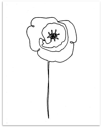 Amazon Com Poppy Flower Wall Art 11x14 Unframed Minimalist