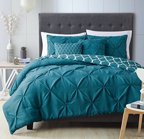Avondale Manor Madrid 5-Piece Comforter Set King, Light Teal (Teal Sets Colored Bedding)