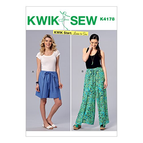 McCall Pattern K4178-00000 XS-S-M-L-XL Misses' Wrap Shorts and Pants by McCall Pattern