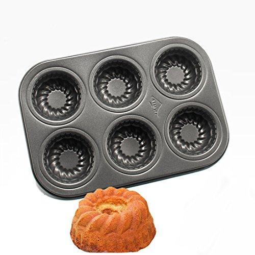 Great Pumpkin Bundt Pan (Beneking Muffin Pan 6 Cup Nonstick Carbon Steel Cupcake Pan Pumpkin Shape(2-Pack))