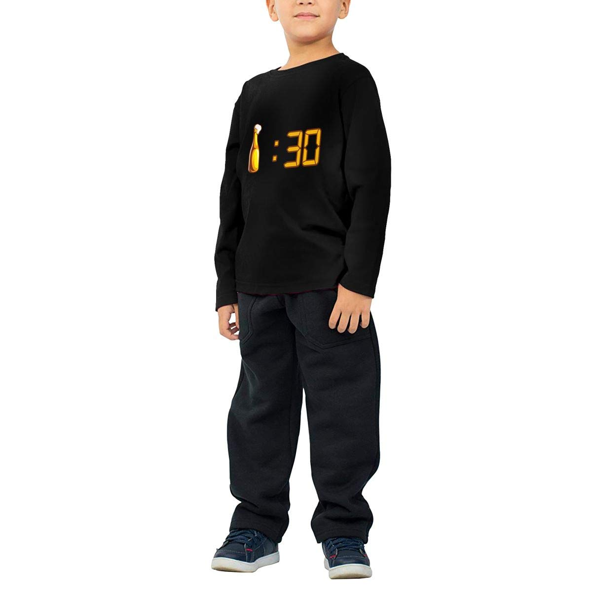 Drinking Beer Childrens Long Sleeve T-Shirt Boys Cotton Tee Tops