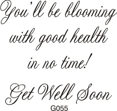 Blooming with Good Health Greeting Rubber Stamp by DRS Designs