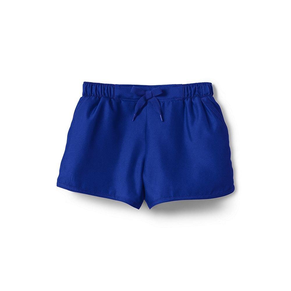 Lands' End Little Girls Swim Shorts, 4, Royal Indigo classic 4896997xx