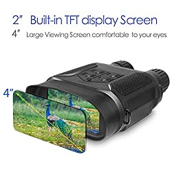 DoCred Night Vision Binoculars Hunting Goggles Digital Infrared Night Vision Hunting Binocular with Large Viewing Screen Can Take Day or Night IR 5mp Photo & 640p Video from 400m/1300ft
