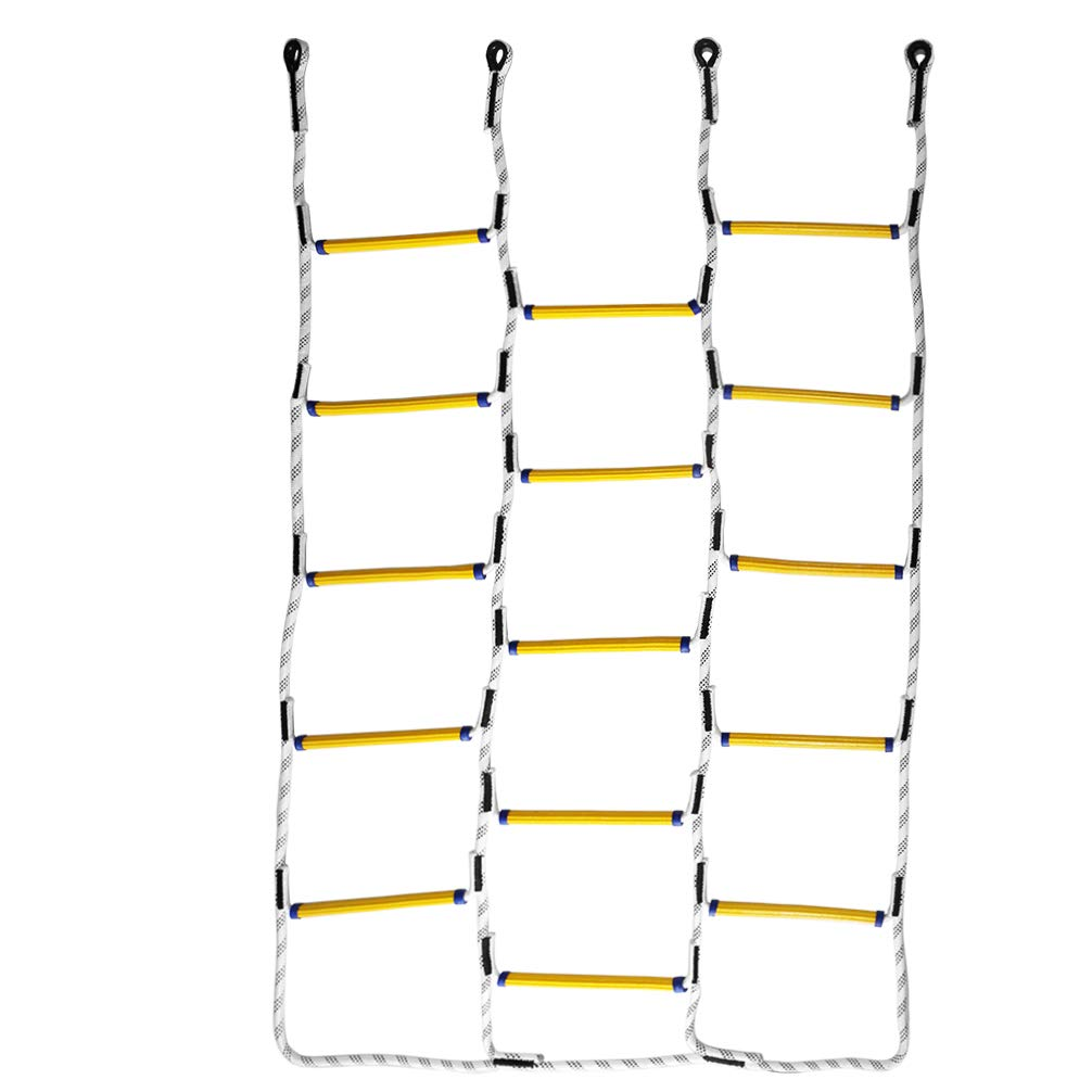 Aoneky 5.9 ft Nylon Climbing Net Rope Ladder for Kids - Fun Outdoor Toy for Balance, Coordination and Strength