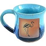 Flamingo Mug in Mountain Waves glaze.