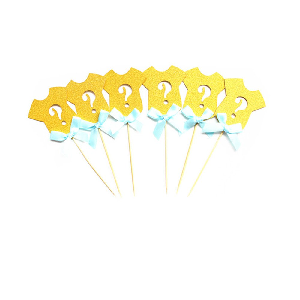Boy or Girl Banner and Gender Reveal Decor Cake Topper for Baby Shower Party Pregnancy Announcement Supplies