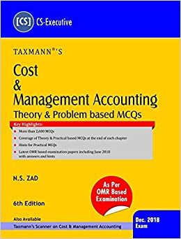 Buy Cost & Management Accounting-Theory & Problem based MCQs (CS