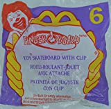 McDonalds FINGER BOARD #6 - Toy Skateboard with Clip, 2000