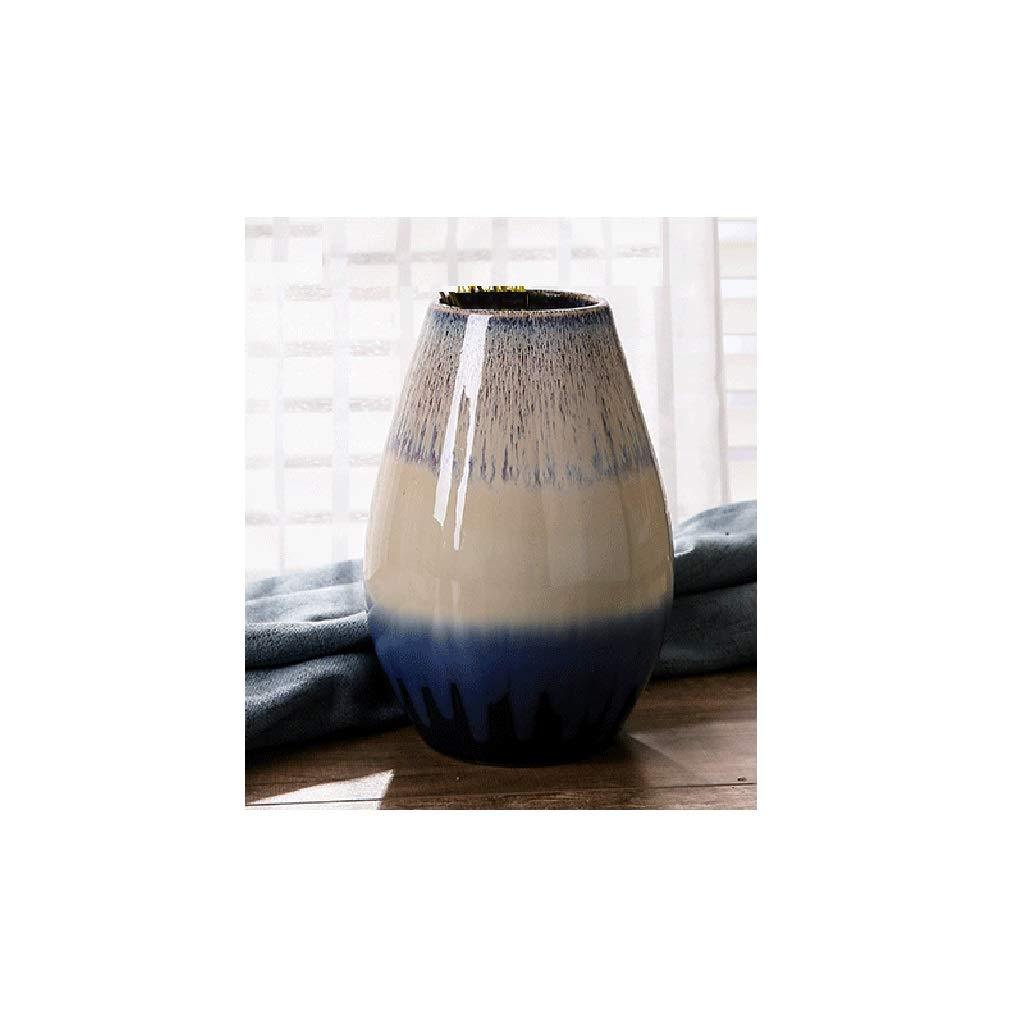 ヨーロッパの陶製の花瓶、リビングルームのカウンタートップ、陶器の装飾品 SHWSM (サイズ さいず : High 23CM) B07S4KR8HC  High 23CM