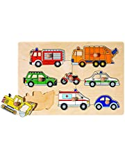 Steckpuzzle Verkehrsmittel: 30 x 21 cm, Sperrholz, 8 Teile, per Stück