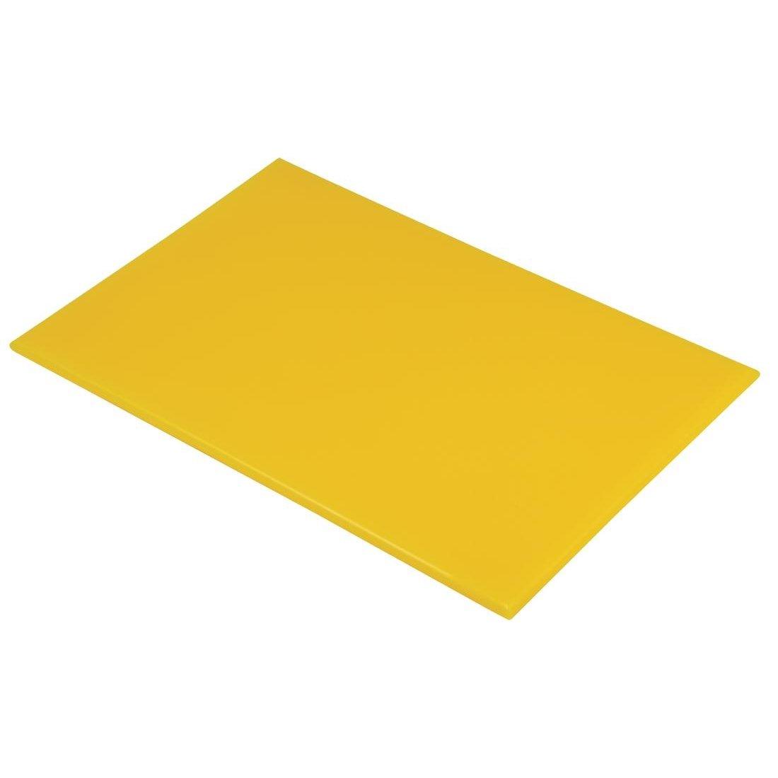 Hygiplas J021grandes de alta densidad Tabla de cortar, amarillo 6049