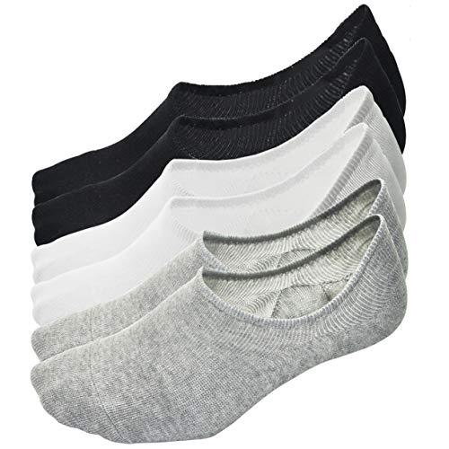 BETTLIVES Mens No Show 6 Pack Socks Cotton Low Cut Non Slip