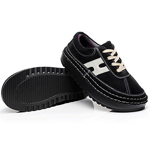 Piattaforma Scamosciata Scarpe Casuale Nero Shenn Sneaker Pelle Confortevole Donna Z5qZgw7X