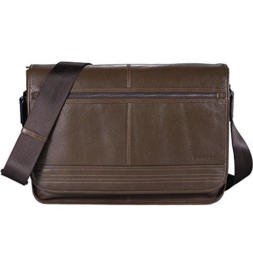 Banuce RTXCXBM116-BBK Business Messenger Bag Genuine Leat...