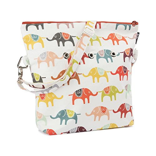 Yarn Pop Totable Knitting Bag - Elephant March by Yarn Pop
