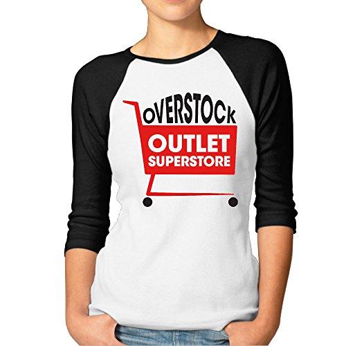 JXMD Women's Superstore 3/4 Sleeve Black Size M
