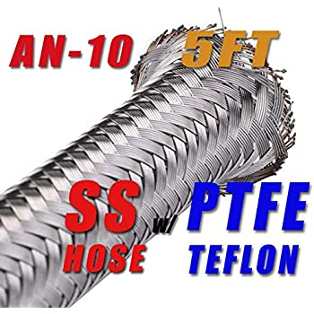 10 AN10 12.95mm Braided Stainless Steel PTFE TEFLON Fuel Line Hose E85 30FT PTFEAN10-030 1//2