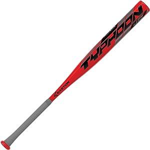 EASTON TYPHOON -12 USA Youth Baseball Bat   2 1/4 inch Barrel   2020   1 Piece Aluminum   Lightweight ALX100 Military Grade Alloy   Pro Style Concave End Cap   Cushioned 2.2mm Flex Grip