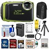 Fujifilm FinePix XP130 Shock & Waterproof Wi-Fi Digital Camera (Lime) 64GB Card + Battery +Charger + Cases + Tripod + Float Strap + Kit