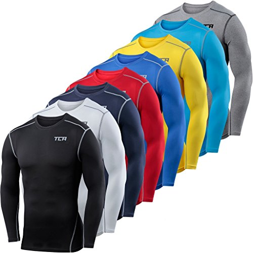 Men/'s Pro Performance Compression Shirt Long Sleeve Base Layer Thermal Top Mock