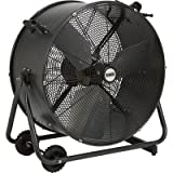 For heavy-duty air movement in any environment, choose this heavy-duty Bannon Tilting Indoor/Outdoor Drum Fan. Its weather-resistant features mean that it is great for use in wet locations or in less-than-perfect weather. The 1/3 HP direct drive moto...