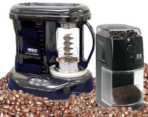Pro Roaster - NESCO Pro Coffee Roaster & Hearthware burr Grinder Set + 2 lbs free green Beans
