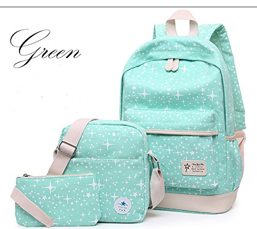 Canvas Backpack Set