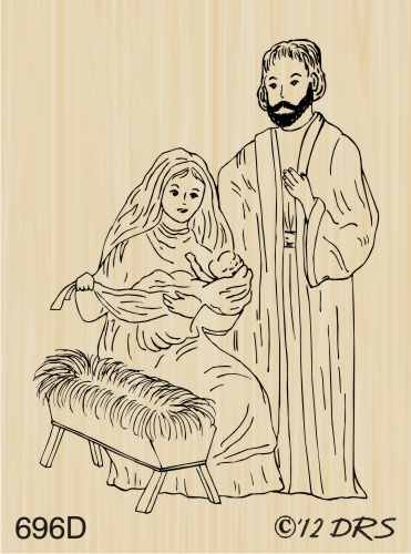 - Small Nativity Scene Rubber Stamp By DRS Designs