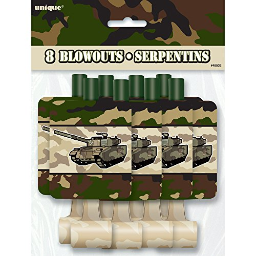 Military Camo Party Blowers, 8ct (Blower Favors)