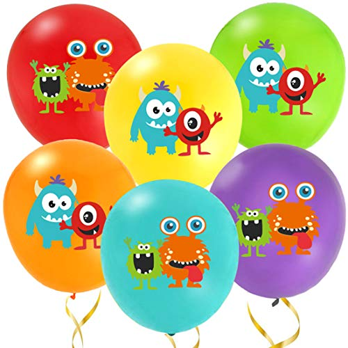 KREATWOW Monster Bash Balloons for Kids Monster Bash Party Decorations 36 Pack -