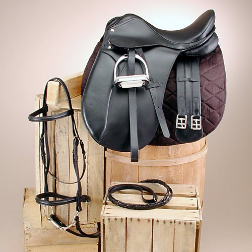 Silver Fox Saddle Package - SilverFox Dressage Saddle Set 18