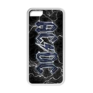 SANLSI Rock Band AC/DC Logo Cell Phone Case for Iphone 5C