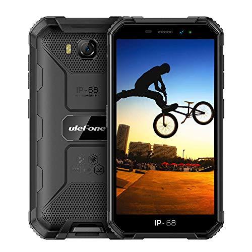 Ulefone Armor X6 Rugged Smartphones Unlocked 3G,Waterproof Rugged Cell Phones Unlocked, 5'' HD Android 9.0 2GB+16GB 8MP Camera 4000mAh, Dual Sim Rugged Phone GPS/Glonass/WiFi (Black)