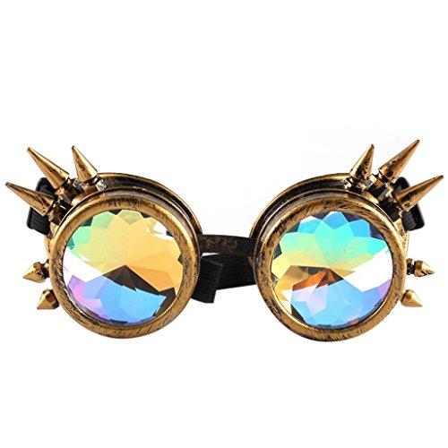 Lotus.flower Kaleidoscope Glasses Rave Festival Party EDM Sunglasses Diffracted Lens Cool Goggles - Lotus Sunglasses