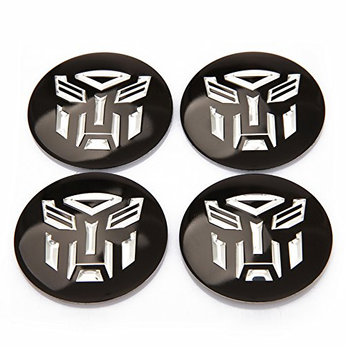 INCART Car Wheel Hub Centre Cover Stickers Original Car Tire Pack Mark Sticker Paster Transformers Autobots Fashion Black Φ5.6cm ()