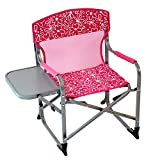 #7: Kid's Portable Director's Chair (Pink Flowers)