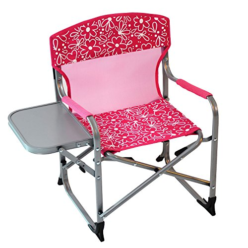 Director Chair Kids Chairs (Kid's Portable Director's Chair (Pink Flowers))