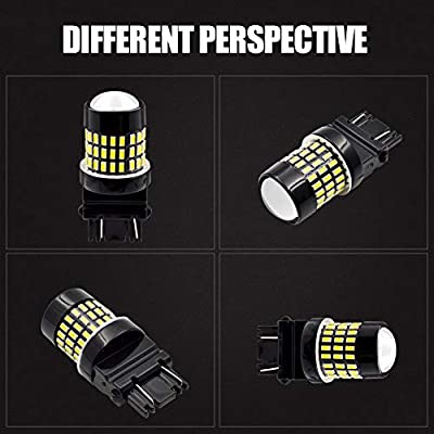 LncBoc 3157 Led 1800LM 78SMD 3014 Chipsets with Projector Lens 3156 3056 3057 3157 LED Bulbs Super Bright, 1800LM, For Car Auto Parking Backup Reverse Tail White 6500K Lights, 12-24V Pack of 2: Automotive