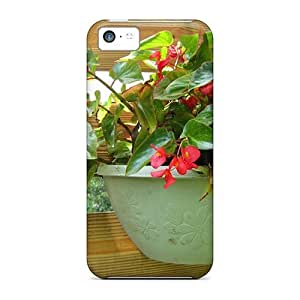 Anti-scratch And Shatterproof Potted Flowers Phone Cases For Iphone 5c/ High Quality Cases