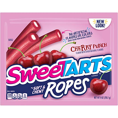SweeTARTS Cherry Ropes, 9 oz (Pack of 12)