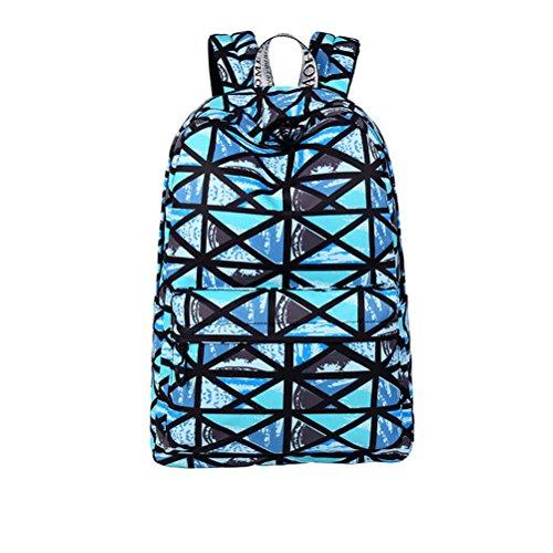 à de noir Winnerbag d'impression collège Sac 15 Black capacité dos occasionnels de à pouces dos portable géométrique étanche filles Femmes Sac motif grande qqpTw8H