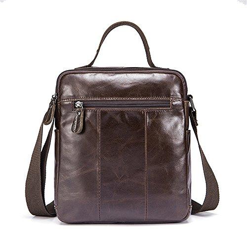 Notebook Men's Qi For Business Vintage Leather Briefcase Shoulder Satchel Casual Crossbody Bag Bag Leather Suitable Men's vaUaqgO