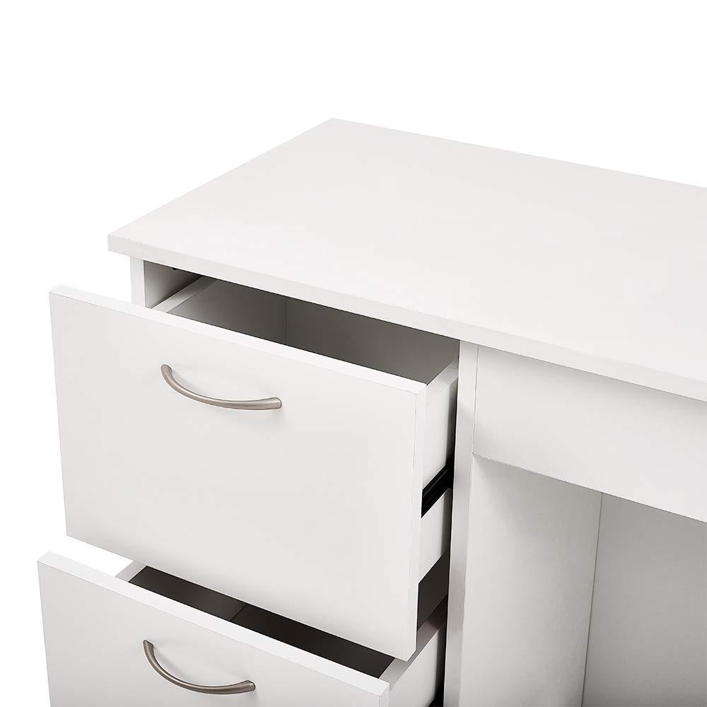 Conemi Scrivania per Computer con 3 cassetti Tavolo da Lavoro 93 x 38 x 79 cm scrivania per Computer