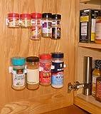 SpiceStor Organizer Rack 16 Large Cabinet Door Spice Clips