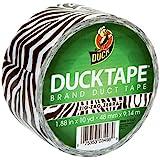 Duck Brand 280110 Printed Duct Tape, Zig-Zag Zebra, 1.88 Inches x 10 Yards, Single Roll