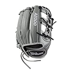 This all-new pattern from Wilson combines grey SuperSkin and white Pro stock leather in a glove perfect for infielders. Made at 11.75 inch, this single post 3x web design makes snagging hard-hit balls a breeze and the new drawstring closure p...