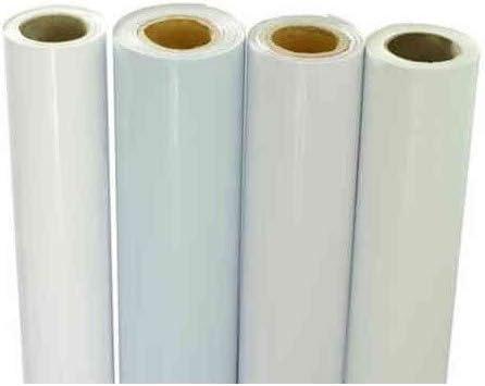 Wonduu Bobina Vinilo Monomérico Blanco 120g Impresión 50 Mtrs 1,27 X 50 m: Amazon.es: Electrónica
