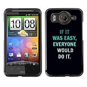 TopCaseStore / la caja del caucho duro de la cubierta de protección de la piel - Inspiring Text Black - HTC G10